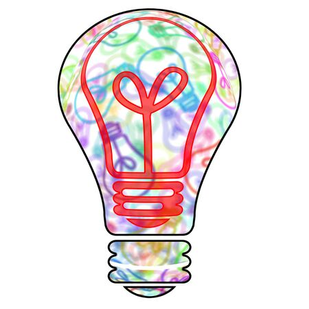 a light bulb drawn symbolizing the concept idea Stock Photo - 8755629