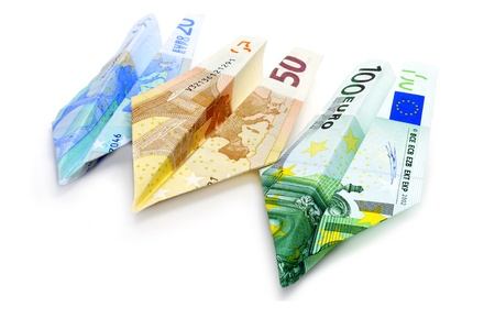 paper planes made with euro bills Stock Photo - 8882571