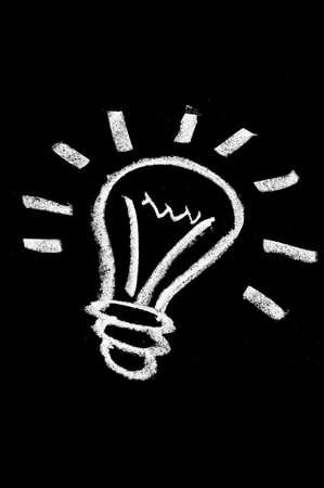a light bulb drawn in a blackboard symbolizing the concept idea Stock Photo - 8919549