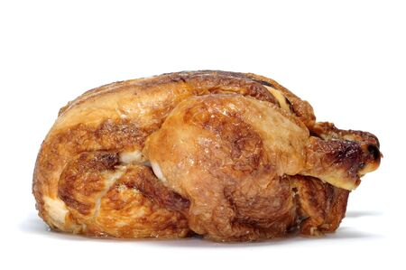 a roast chicken on a white background photo