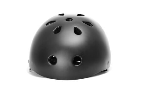 roller skates: a safety helmet on a white background