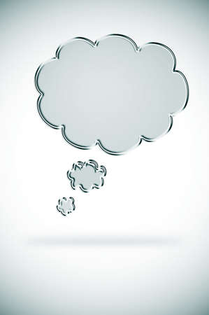 introspection: illustration of a chain thought bubble