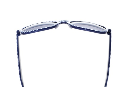 striped sunglasses on a white background photo