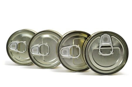some cans on a white background Stock Photo - 9104373