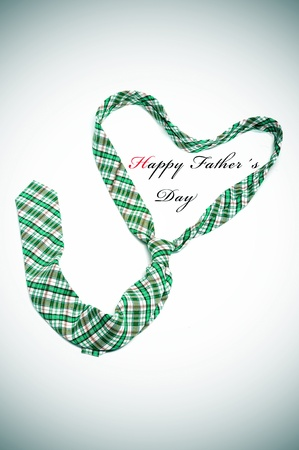 a tie forming a heart and the sentence happy fathers day photo