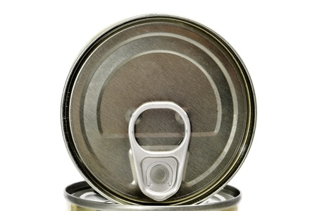 closeup of some cans on a white background photo