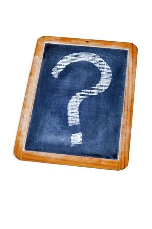 point d interrogation: point d'interrogation dessin� avec une craie sur un tableau