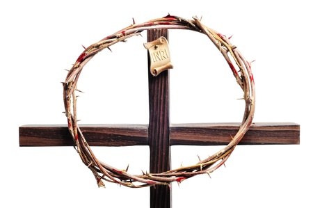 a representation of the crown of thorns and the cross of Jesus Christ Stock Photo - 9211905