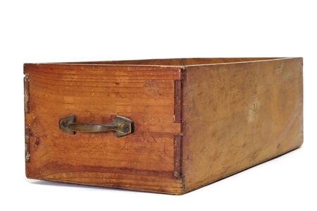 an ancient wooden drawer on a white background Stock Photo - 9274299