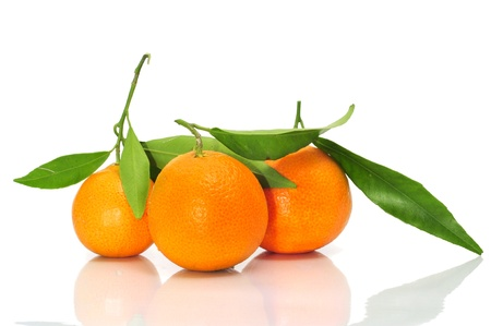 a pile of tangerines on a white background Stock Photo - 9299618
