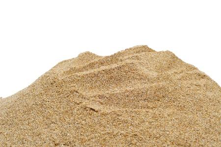 vue rapprochée du sable sur un fond blanc