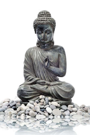A image of buddha and stones on a background Stock Photo - 9299633