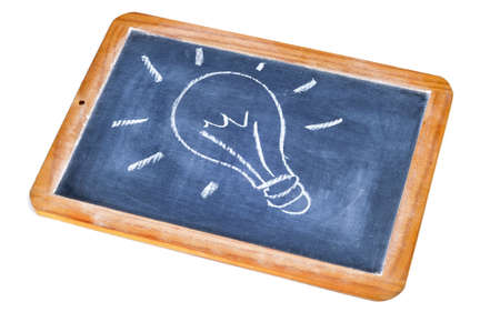 a light bulb drawn in a blackboard symbolizing the concept idea Stock Photo - 9307368