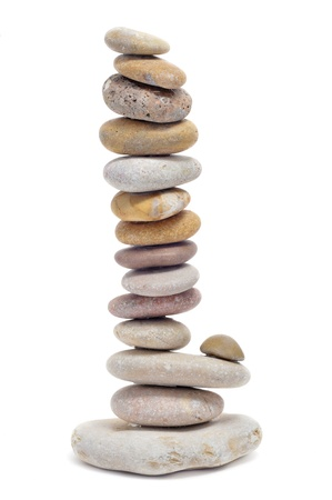 pebblestone: a pile of zen stones on a white background