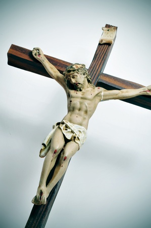 a representation of Jesus Christ in the holy cross photo