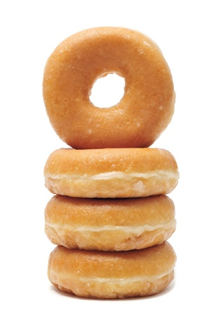 a pile of donuts  on a white background photo