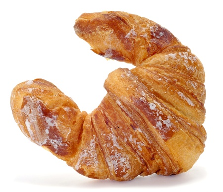 closeup of a croissants on a white background photo