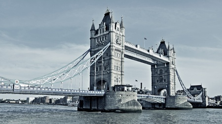 monument historical monument: a view of Tower Bridge in London, United Kingdom Stock Photo