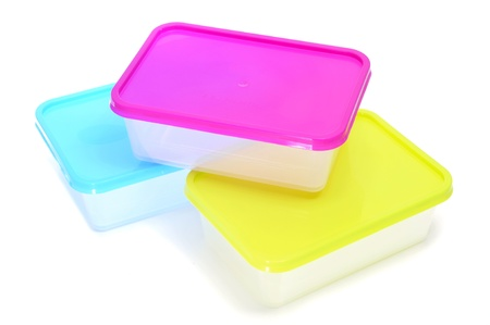 homeware: some plastic containers on a white background