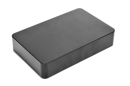 external hard disk drive on a white background photo