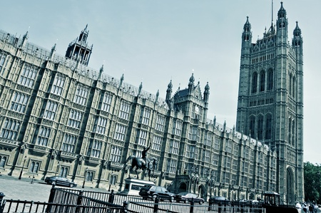 a view of Westminster Palace in London, United Kingdom Stock Photo - 9550314