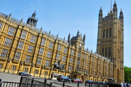 commons: London, United Kingdom - May 6, 2011: Victoria Tower in Westminster Palace in London, UK. The tower, with 15.2 meters, houses the three million documents of the Parliamentary Archives.