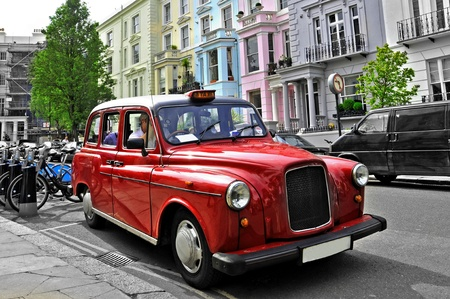 taxis: typical cab in London, United Kingdom