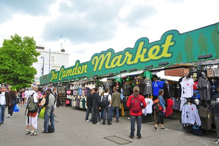 approximately: London, United Kingdom - May 8: The Camden Market on May 8, 2011 in London, United Kingdom. It is the fourth-most popular visitor attraction in London, attracting approximately 100,000 people each weekend