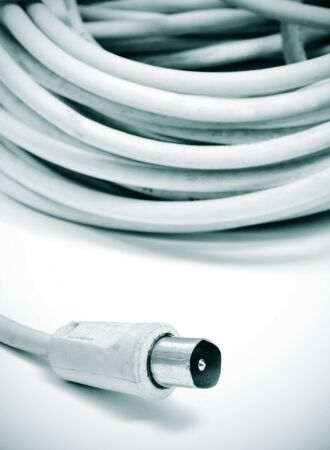 closeup of a roll of coaxial cable Stock Photo - 9603862