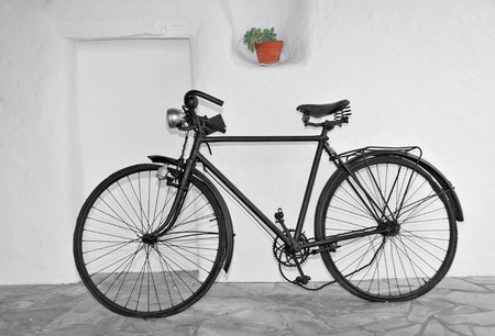 an old bicycle photo