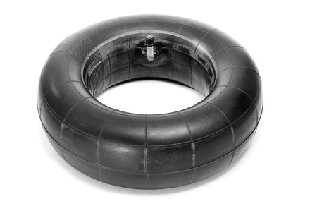 an old inner tube on a white background photo