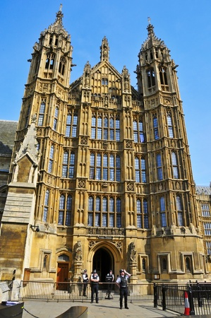 London, United Kingdom - May 6, 2011: Saint Stephens Porch in Westminster Palace in London, UK. The palace has been part of a UNESCO World Heritage Site since 1987. Stock Photo - 9664298