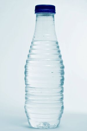 closeup of a plastic water bottle photo