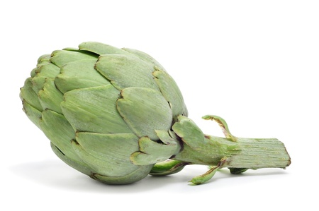 an artichoke isolated on a white background photo
