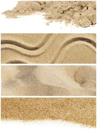 a collage of five different pictures of sand photo