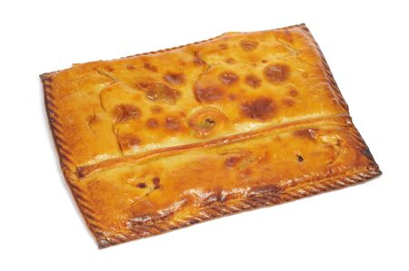 closeup of an empanada gallega, a typical cake stuffed with tuna or meat, from Galicia, Spain photo