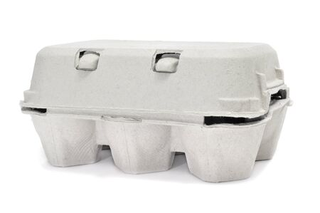 egg box: eggs in an egg carton on a white background