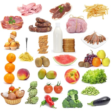dietary fiber: different kind of food from a varied diet Stock Photo