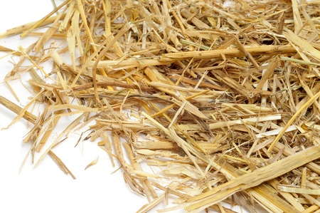 a pile of straw on a white background Stock Photo - 9889106