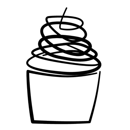 madalena: illustration of a cupcake on a white background