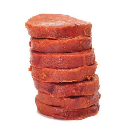 a few slices of sobrasada, a typical mallorca sausage Stock Photo - 10002964