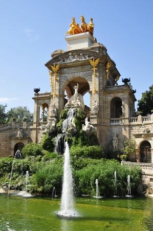 A view of Fountain of Parc de la Ciutadella, in Barcelona, Spain Stock Photo - 10003057