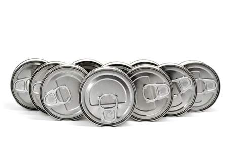 a pile of cans on a white background Stock Photo - 10143786