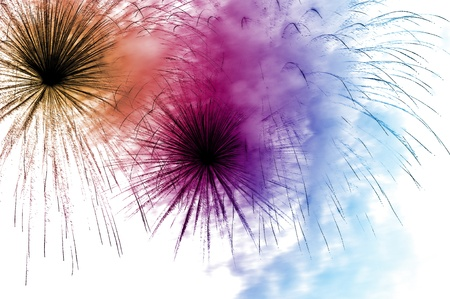 brushstrokes: an abstract background of different colors and lines as fireworks