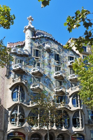 Barcelona, Spain - August 16, 2011: Casa Batllo in Barcelona, Spain. The famous building was designed by Antoni Gaudi.