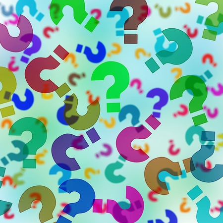 interrogation point: background with question marks of different sizes and colors