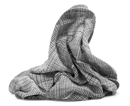 keffiyeh: checkered scarf on a white background
