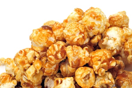a pile of caramel corn on a white background Stock Photo - 10453668