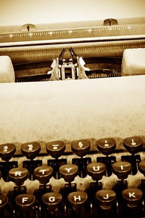 closeup of an old typewriter photo