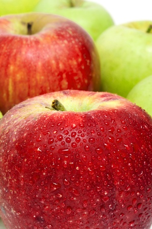 golden apple: closeup of some delicious and fresh apples